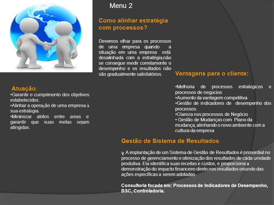 Menu 2 Como alinhar estratégia com processos