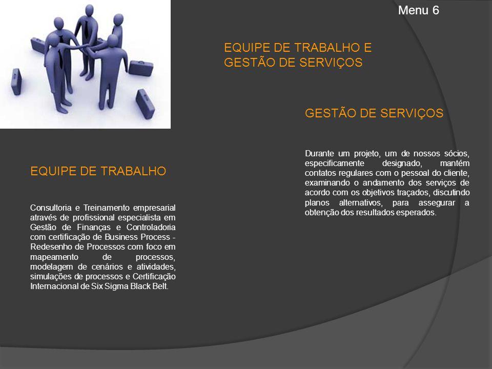 EQUIPE DE TRABALHO E GESTÃO DE SERVIÇOS