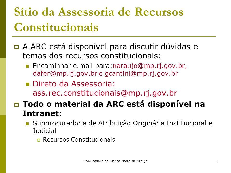 Sítio da Assessoria de Recursos Constitucionais