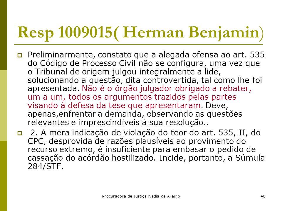 Resp 1009015( Herman Benjamin)