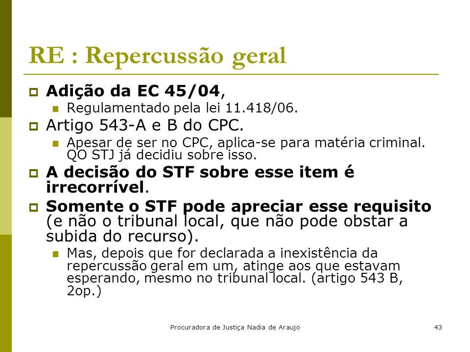 Procuradora de Justiça Nadia de Araujo