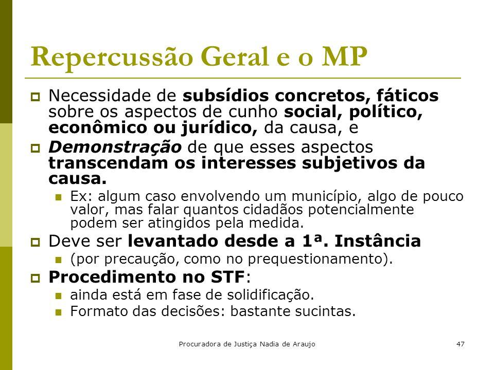 Repercussão Geral e o MP