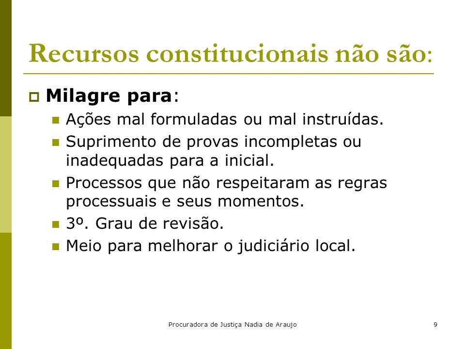 Recursos constitucionais não são: