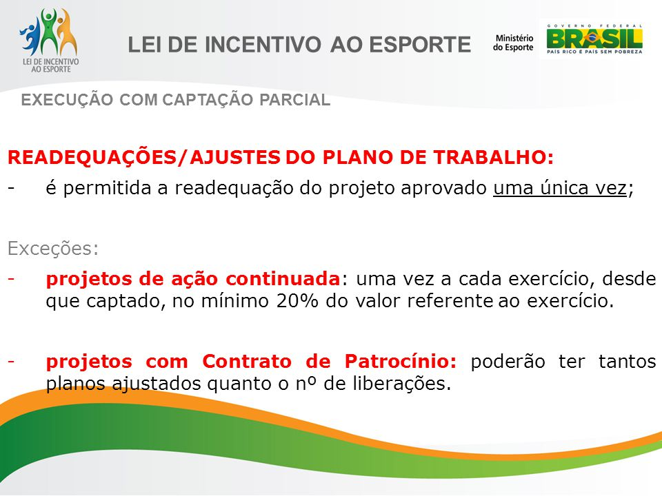 READEQUAÇÕES/AJUSTES DO PLANO DE TRABALHO: