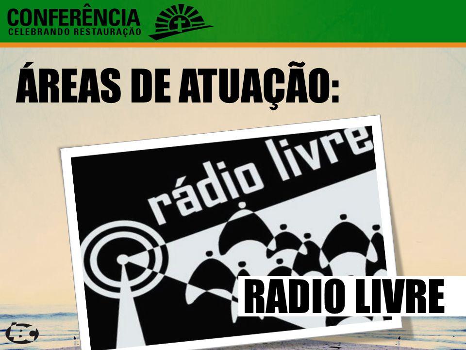 ÁREAS DE ATUAÇÃO: RADIO LIVRE