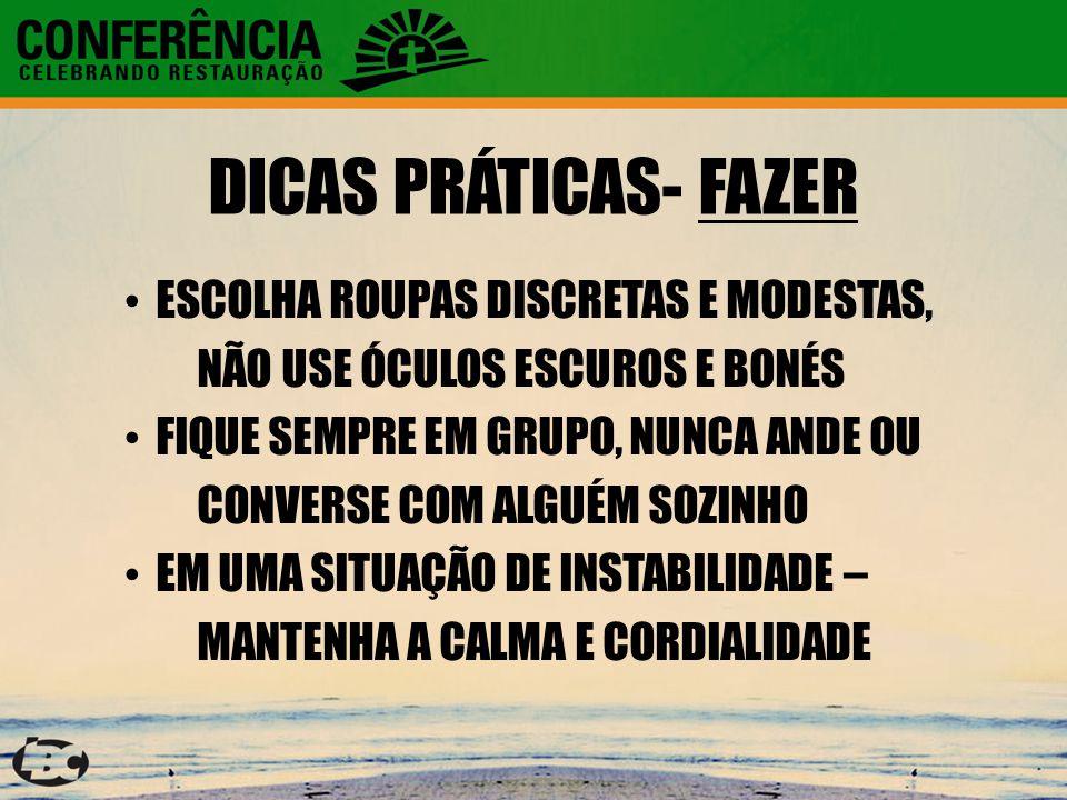 DICAS PRÁTICAS- FAZER ESCOLHA ROUPAS DISCRETAS E MODESTAS,