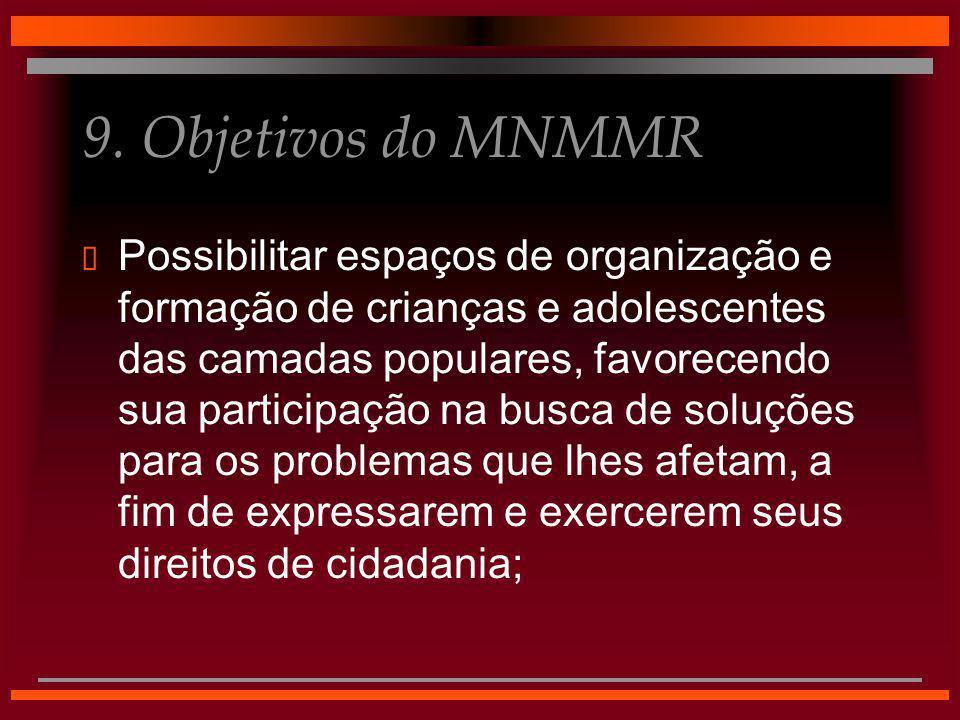 9. Objetivos do MNMMR