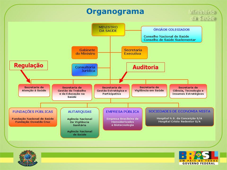 Organograma Regulação Auditoria