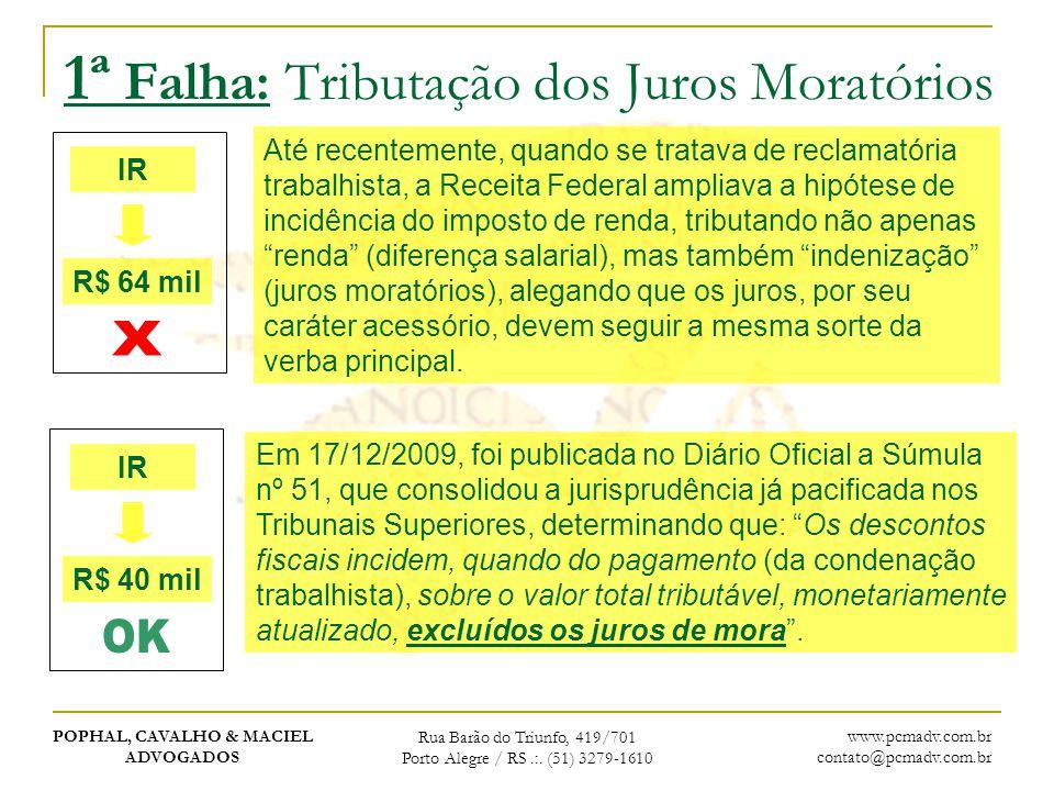 1ª Falha: Tributação dos Juros Moratórios