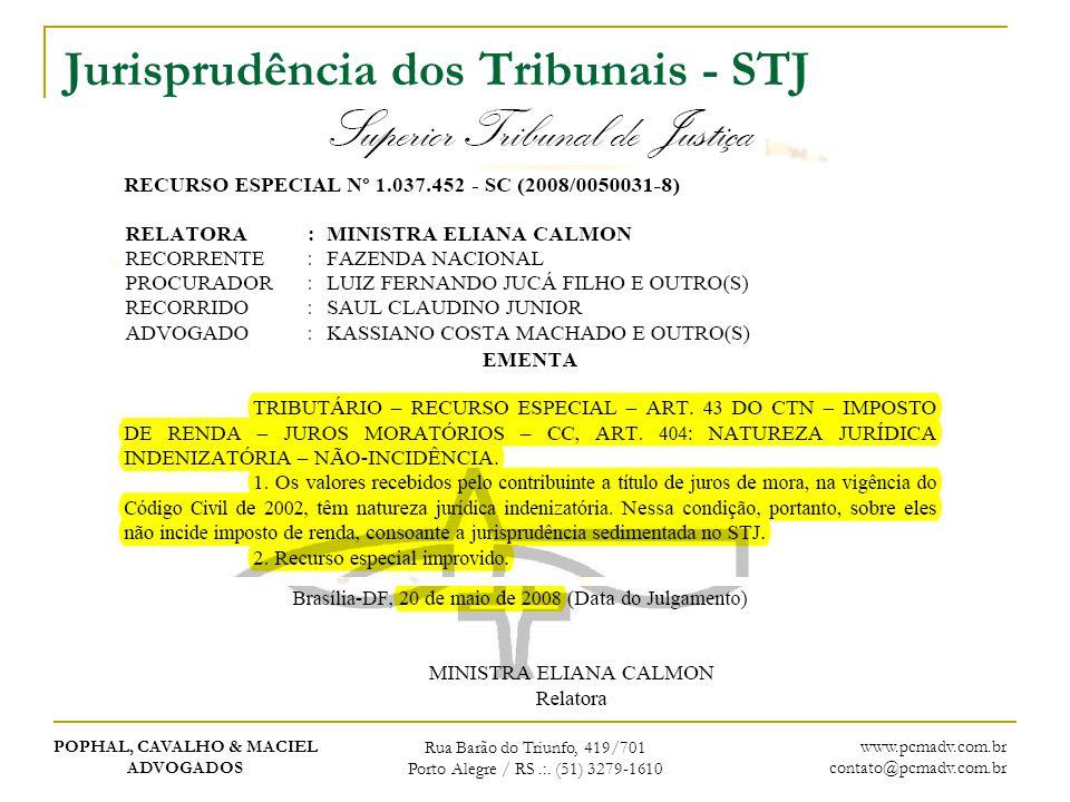 Jurisprudência dos Tribunais - STJ