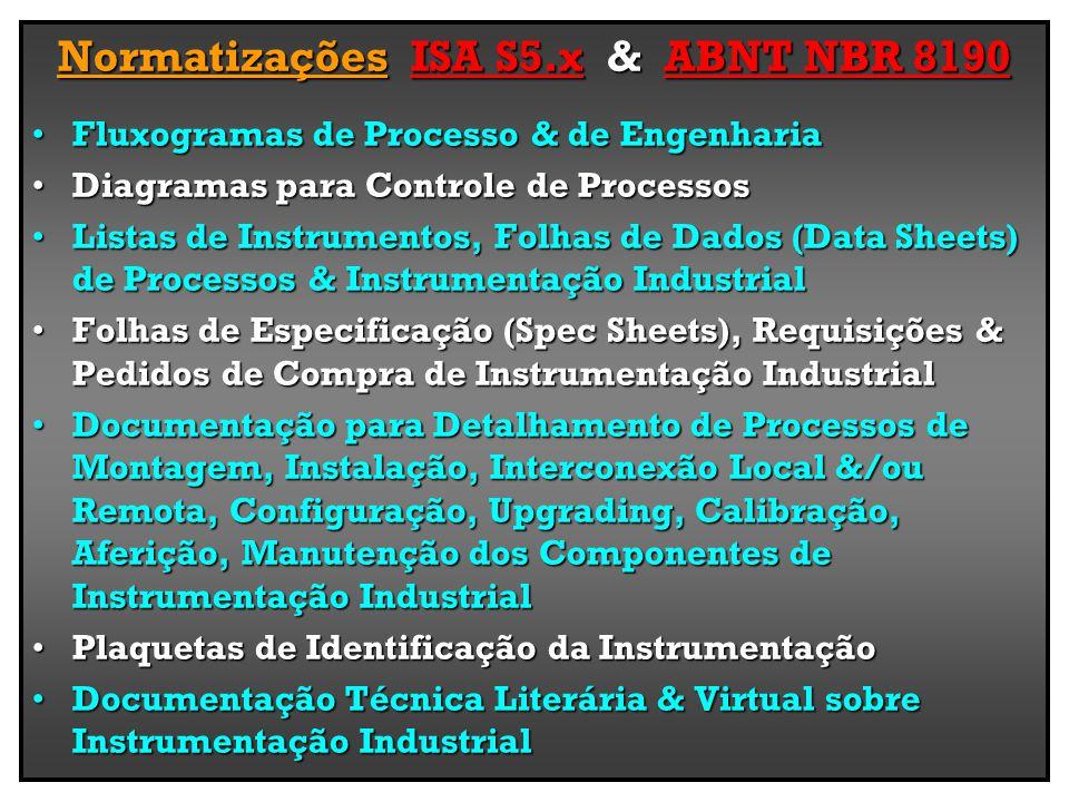 Normatizações ISA S5.x & ABNT NBR 8190
