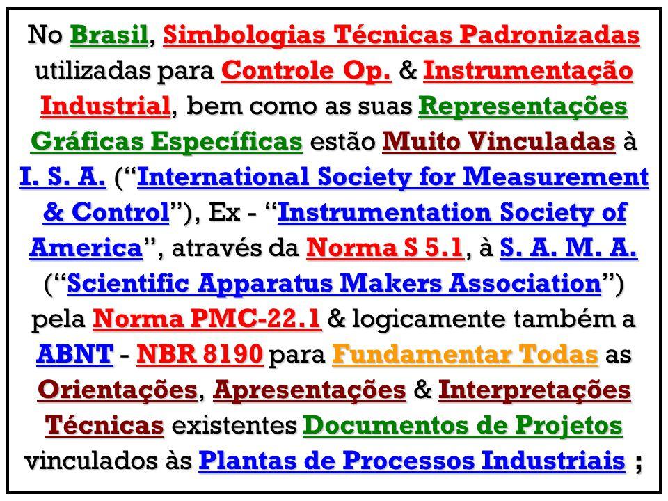 No Brasil, Simbologias Técnicas Padronizadas