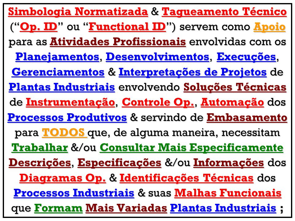 Simbologia Normatizada & Tagueamento Técnico