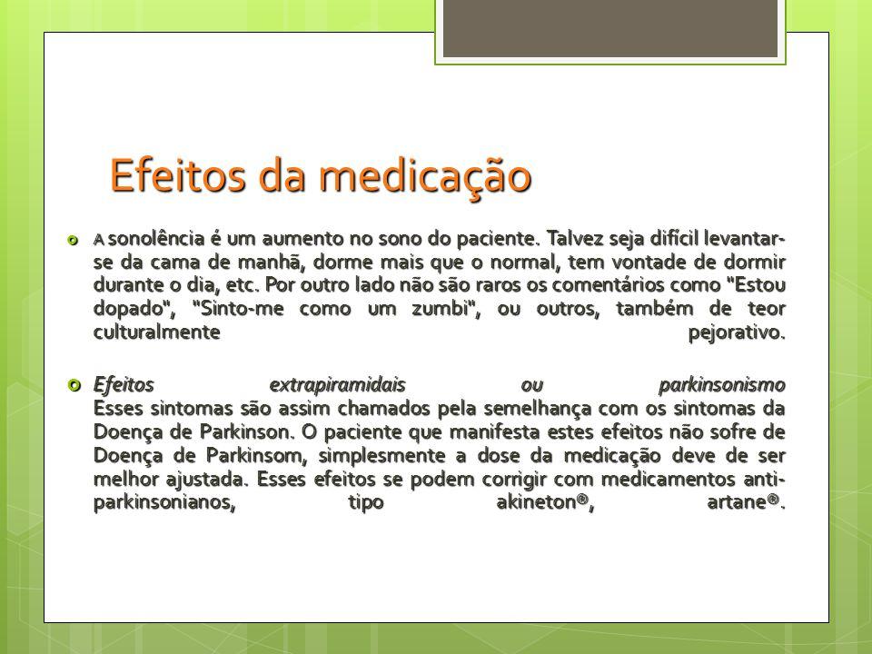 Efeitos da medicação