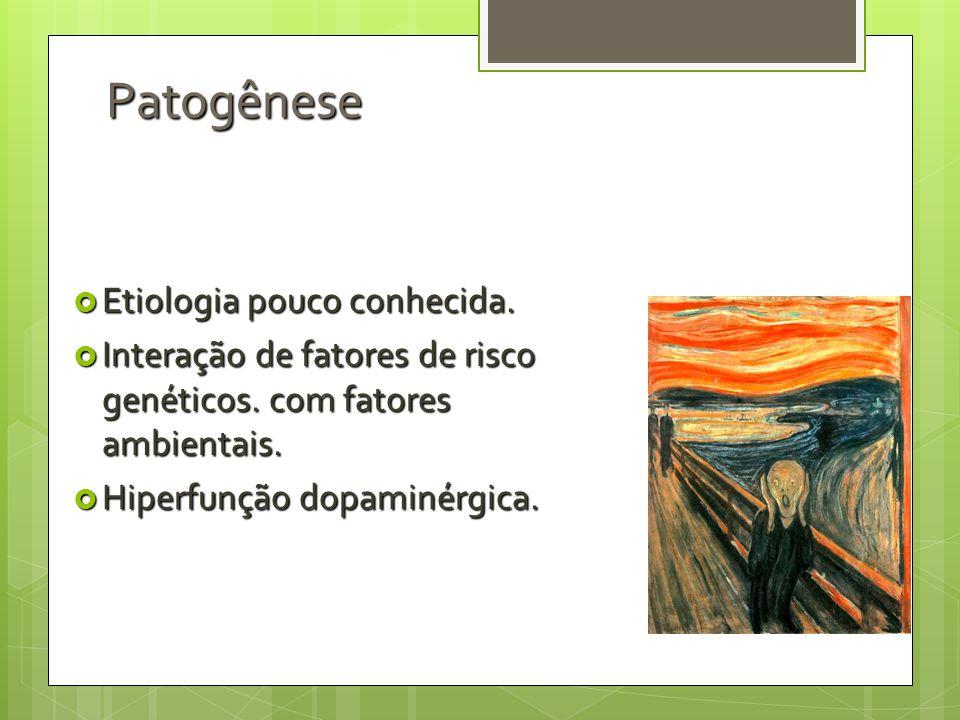 Patogênese Etiologia pouco conhecida.