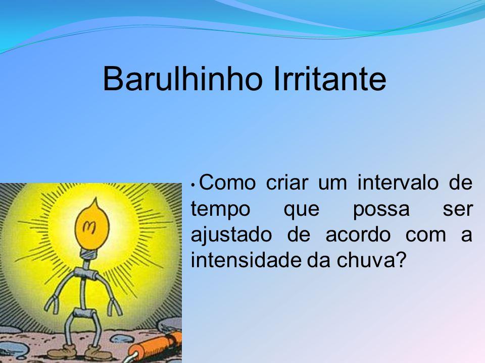 Barulhinho Irritante Como criar um intervalo de tempo que possa ser ajustado de acordo com a intensidade da chuva