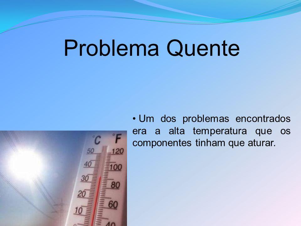 Problema Quente Um dos problemas encontrados era a alta temperatura que os componentes tinham que aturar.