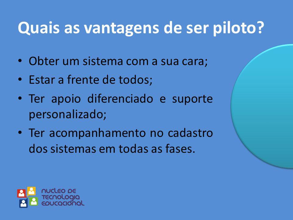 Quais as vantagens de ser piloto