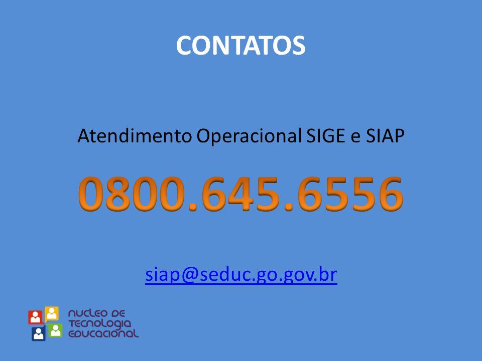 Atendimento Operacional SIGE e SIAP