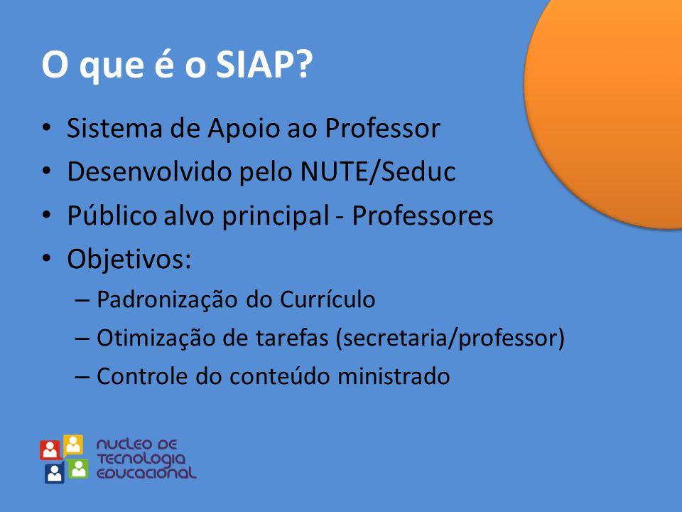 O que é o SIAP Sistema de Apoio ao Professor