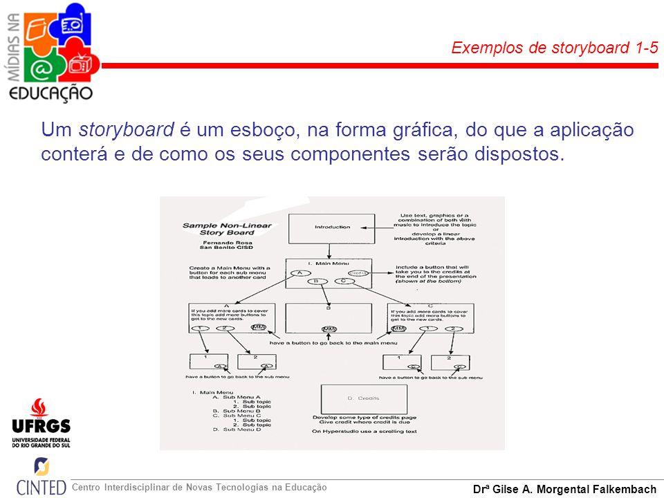Exemplos de storyboard 1-5