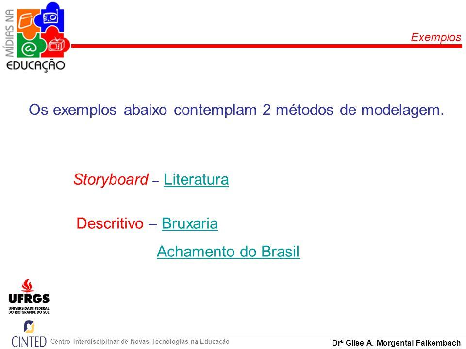 Os exemplos abaixo contemplam 2 métodos de modelagem.