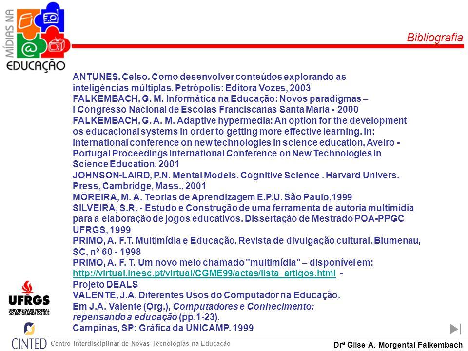 Bibliografia ANTUNES, Celso. Como desenvolver conteúdos explorando as