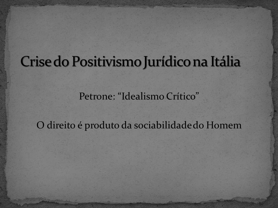 Crise do Positivismo Jurídico na Itália
