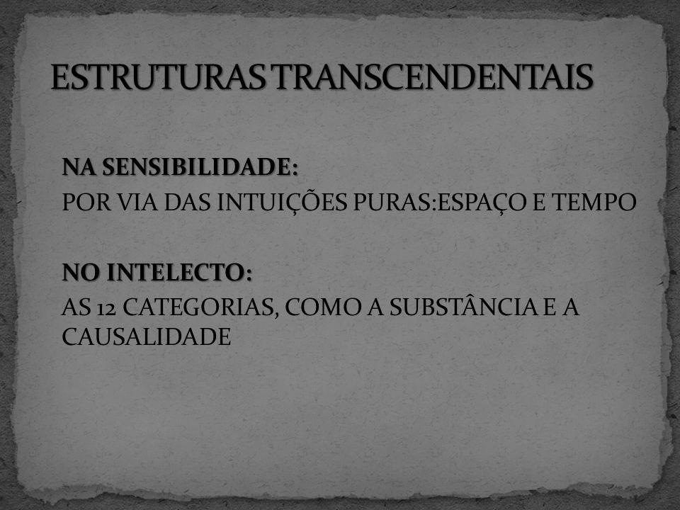 ESTRUTURAS TRANSCENDENTAIS