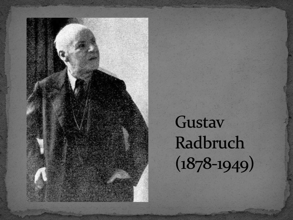 Gustav Radbruch (1878-1949)
