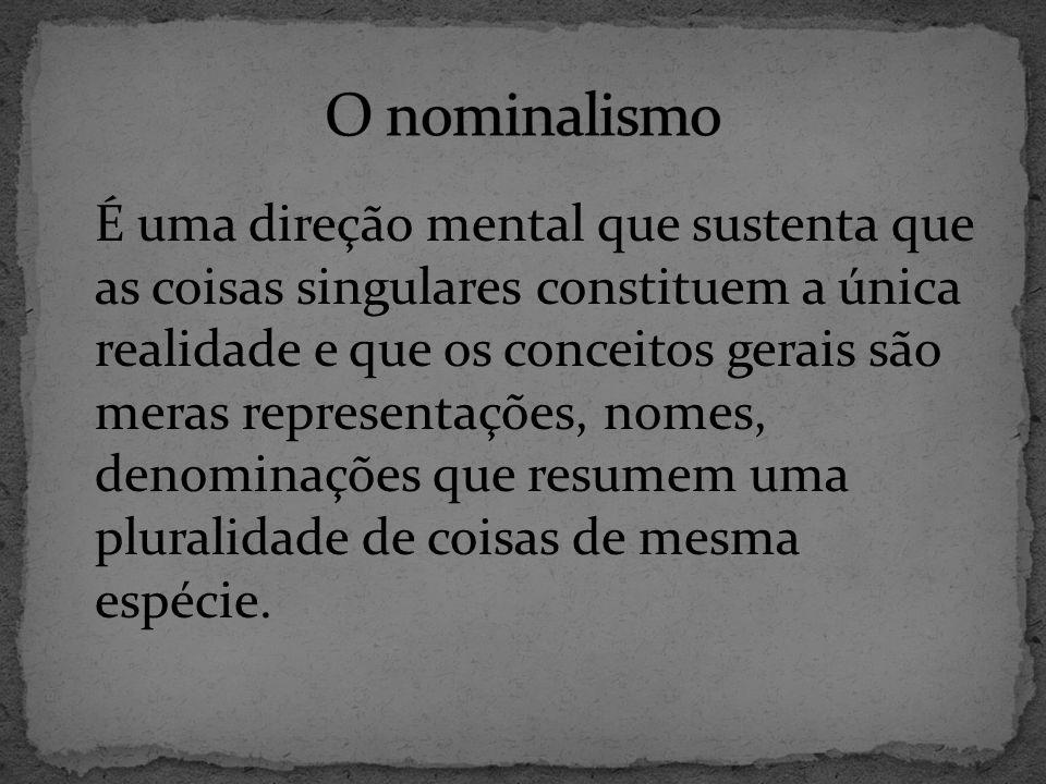 O nominalismo