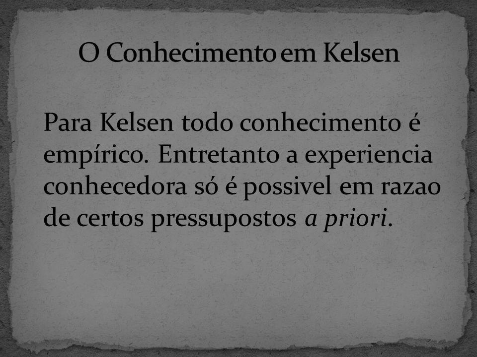 O Conhecimento em Kelsen