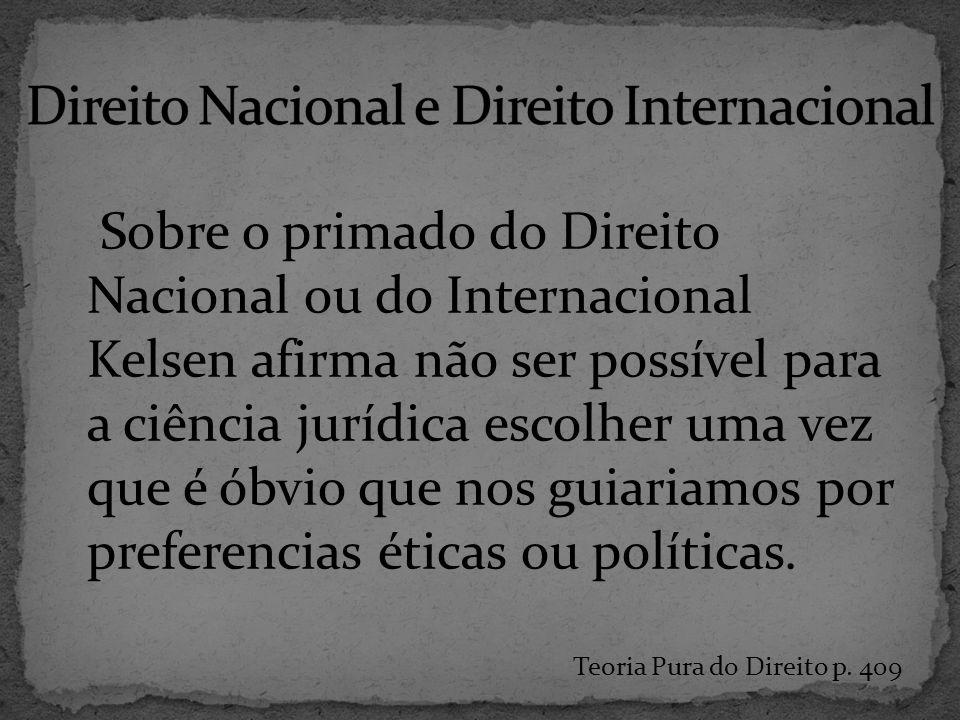 Direito Nacional e Direito Internacional
