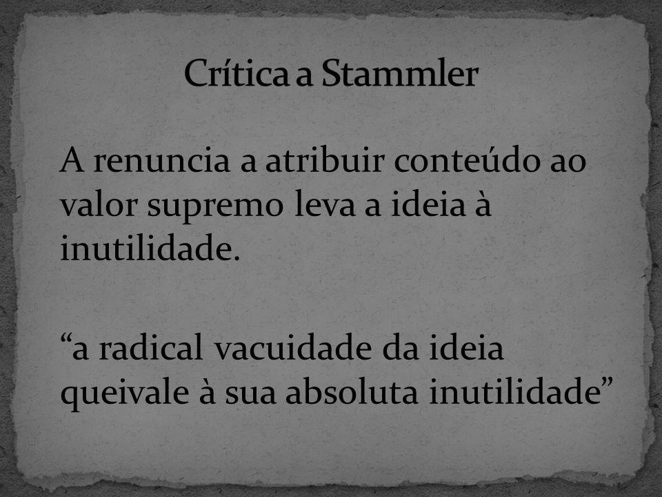 Crítica a Stammler