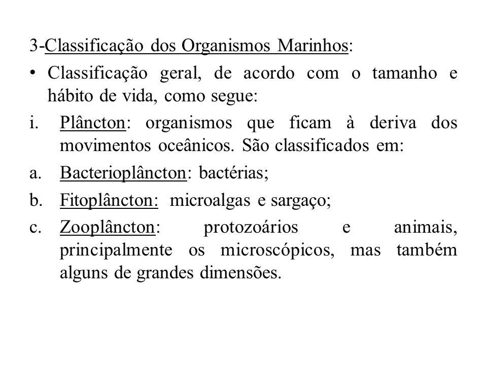 3-Classificação dos Organismos Marinhos: