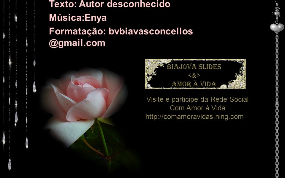 Visite e participe da Rede Social Com Amor à Vida