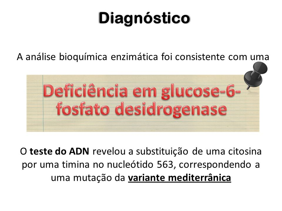 Deficiência em glucose-6-fosfato desidrogenase