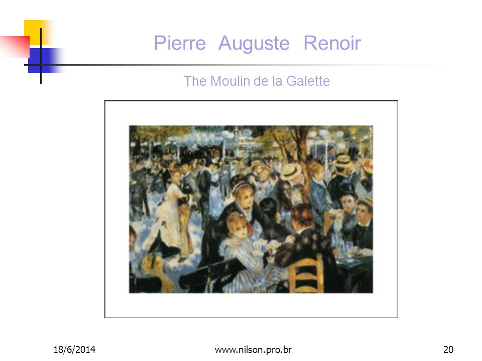 Pierre Auguste Renoir The Moulin de la Galette