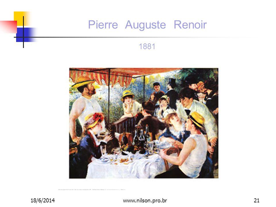 Pierre Auguste Renoir 1881 02/04/2017 www.nilson.pro.br
