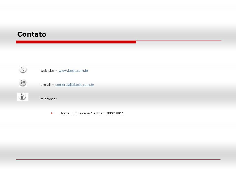 Contato web site – www.iteck.com.br e-mail – comercial@iteck.com.br