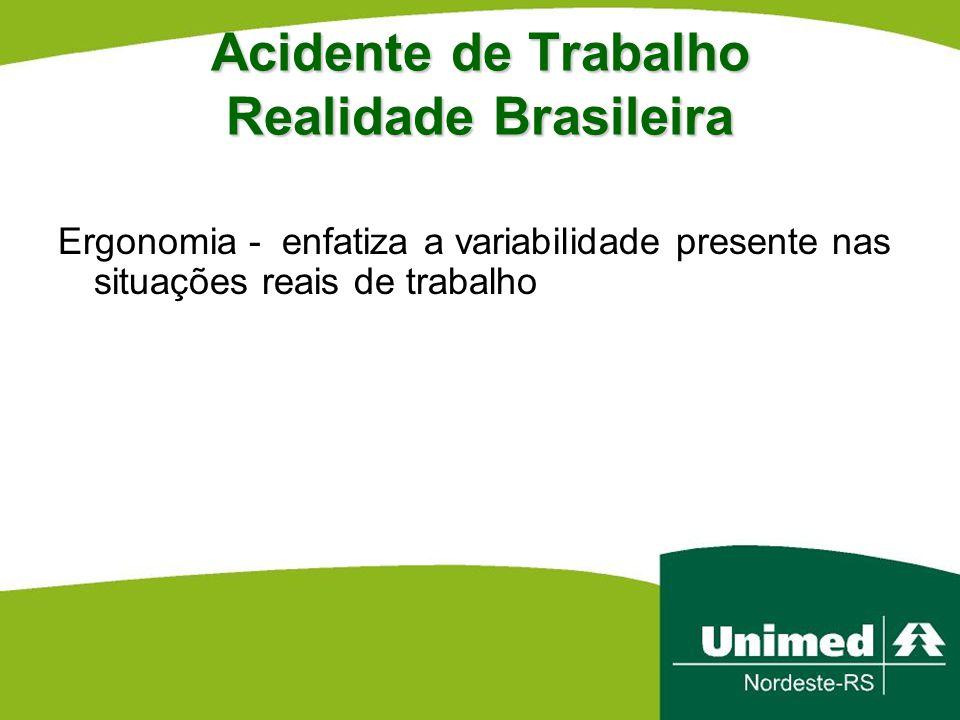 Acidente de Trabalho Realidade Brasileira