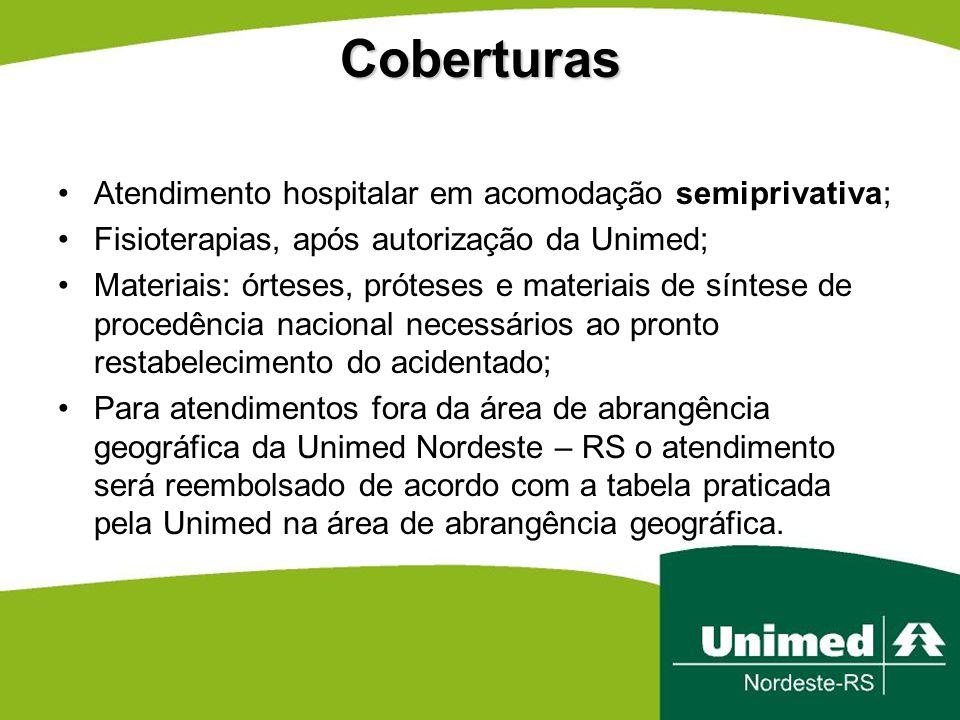 Coberturas Atendimento hospitalar em acomodação semiprivativa;