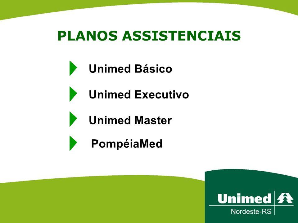 PLANOS ASSISTENCIAIS Unimed Básico Unimed Executivo Unimed Master