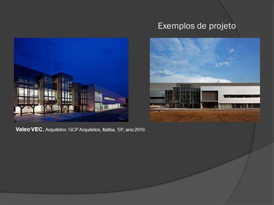 Exemplos de projeto Valeo VEC, Arquitetos: GCP Arquitetos, Itatiba, SP, ano 2010.