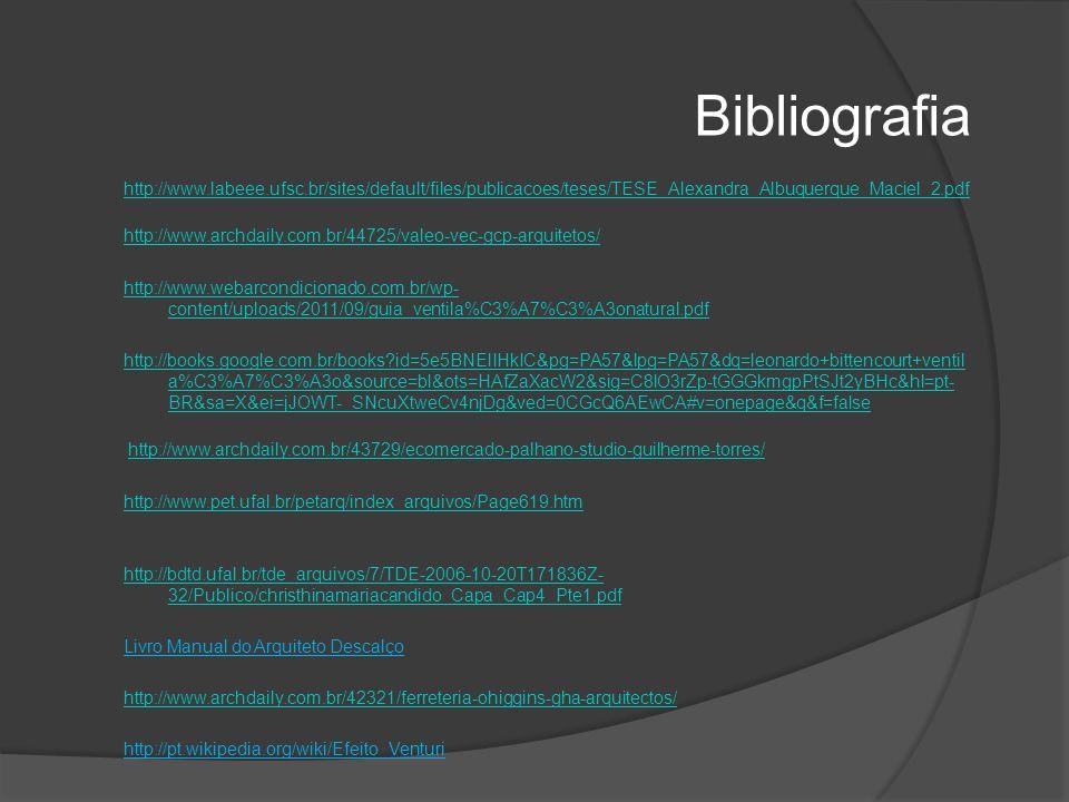 Bibliografia http://www.labeee.ufsc.br/sites/default/files/publicacoes/teses/TESE_Alexandra_Albuquerque_Maciel_2.pdf