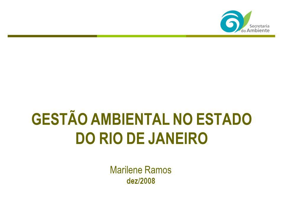 GESTÃO AMBIENTAL NO ESTADO DO RIO DE JANEIRO