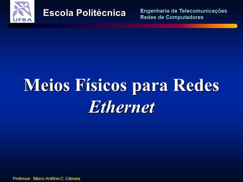 Meios Físicos para Redes Ethernet