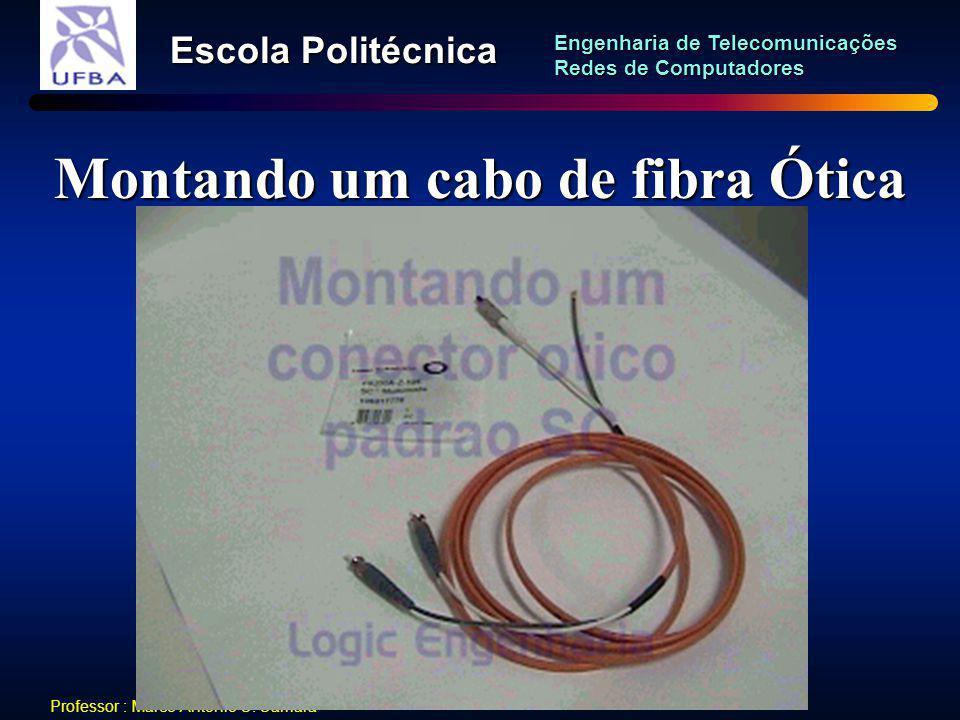 Montando um cabo de fibra Ótica
