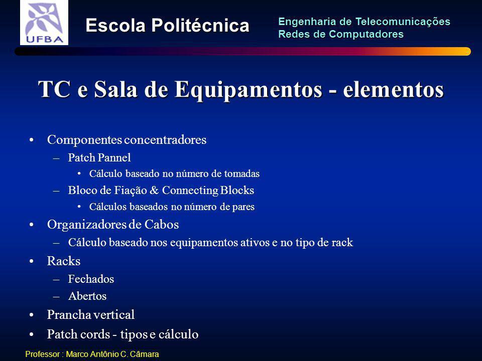 TC e Sala de Equipamentos - elementos
