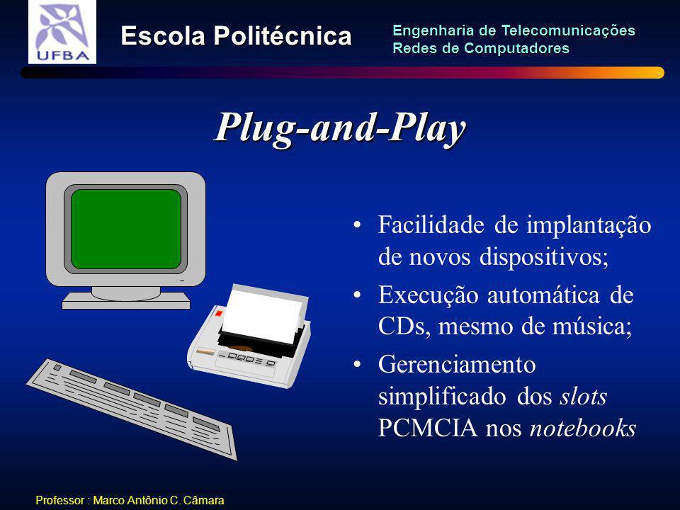 Plug-and-Play Facilidade de implantação de novos dispositivos;